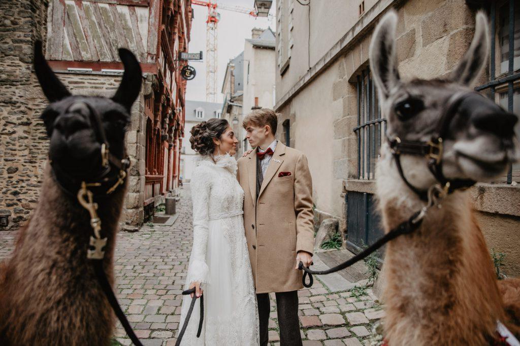 Rennes inspiration mariage lamas